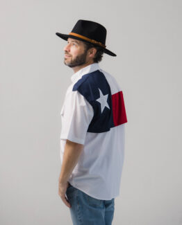 Men's Texas Flag Short Sleeve Fishing Shirt