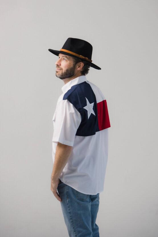 Men's Texas Flag Short Sleeve Fishing Shirt