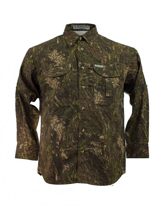Men's Fishing Shirts, Camo Fishing Shirt, Long Sleeve Fishing Shirt, Tiger Hill Fishing Shirt