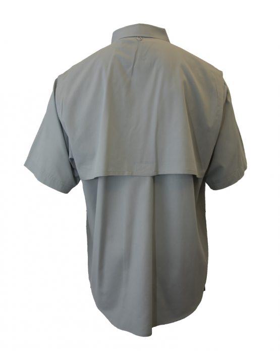 Men's Fishing Shirts, Short Sleeve Fishing Shirt, Grey Fishing Shirt, Tiger Hill Fishing Shirt