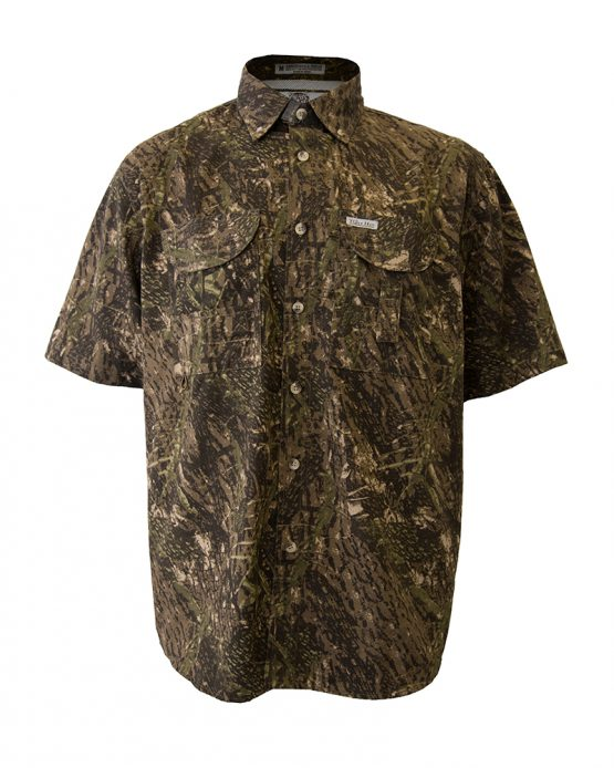 Men's Fishing Shirts, Camo Fishing Shirt, Short Sleeve Fishing Shirt, Tiger Hill Fishing Shir