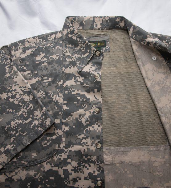 Men's Hunting Shirts, Digital Hunting Shirt, Camo Hunting Shirt, Mesh Lining.