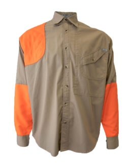 Tiger Hill, Men's Hunting Shirt, Men's long sleeve hunting shirt, Men's Khaki hunting shirt