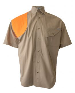Tiger Hill, Men's Hunting Shirt, Men's short sleeve hunting shirt, Men's Khaki hunting shirt