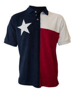 Men's Texas Shirts, Texas Flag Polo, Tiger Hill Texas Shirt