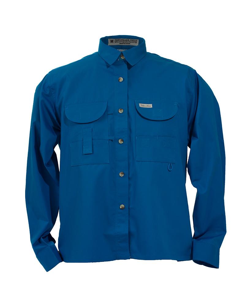 Fishing shirts women 39 s royal blue fishing shirt fh for Fishing shirts for women