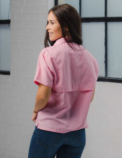 Women's Pink Gingham Fishing Shirt