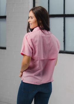 Women's Pink Gingham Fishing Shirt