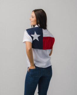 Women's Texas Flag Fishing Shirt