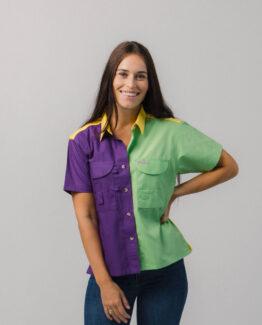 Women's Mardi Gras Fishing Shirt