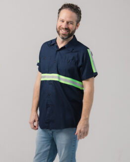 Men's High Visibility Work Short Sleeve