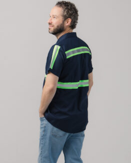 Men's High Visibility Work Short Sleeve