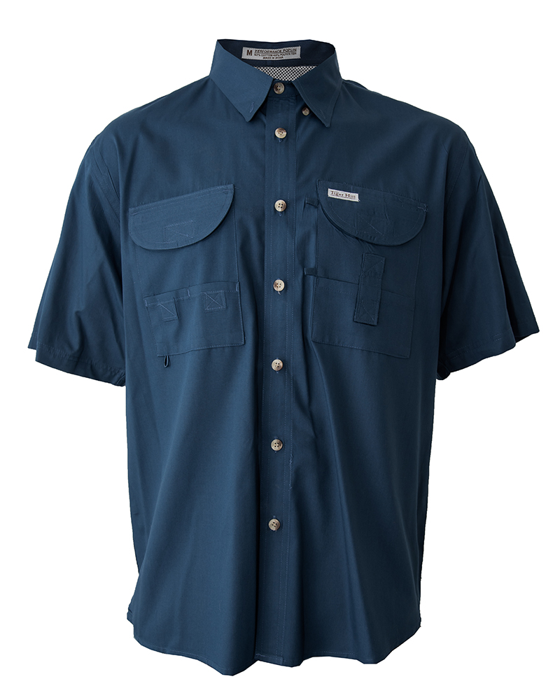 Fishing shirts men 39 s steel blue fishing shirt fh for Mens fishing shirts