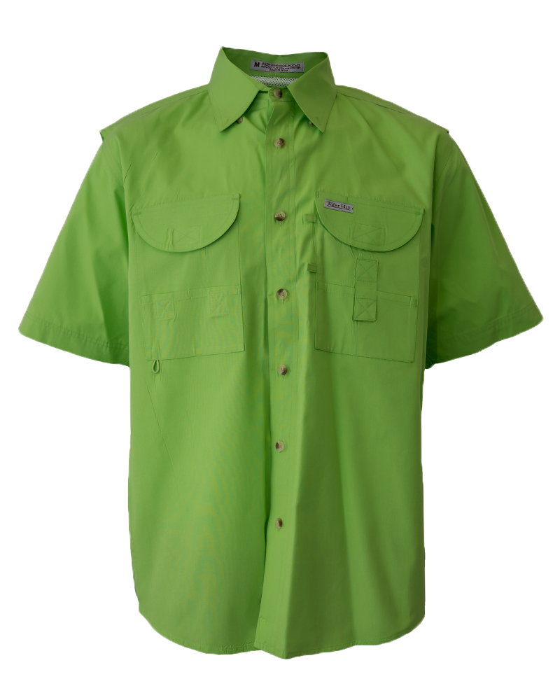 Fishing shirts men 39 s lime green fishing shirt fh for Mens fishing shirts