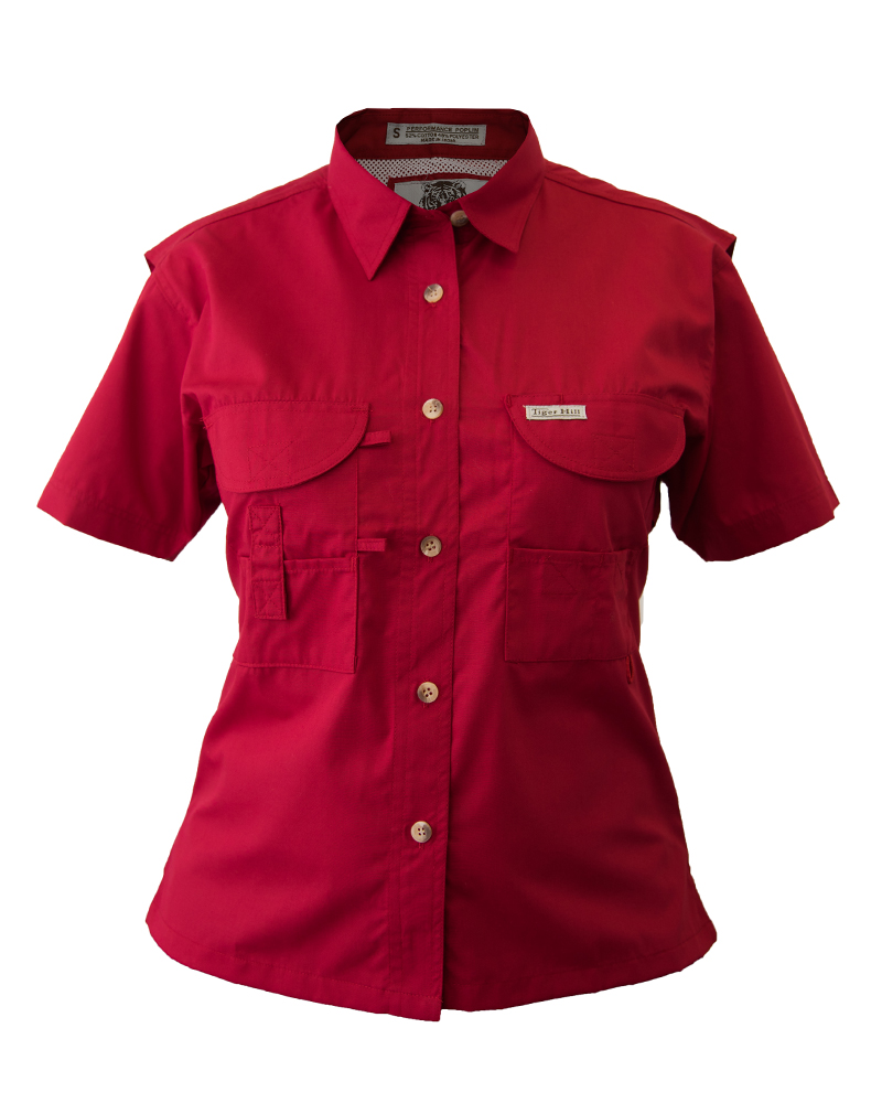Fishing Shirts - Women s - Red Fishing Shirt - FH Outfitters a9809b0beb2e
