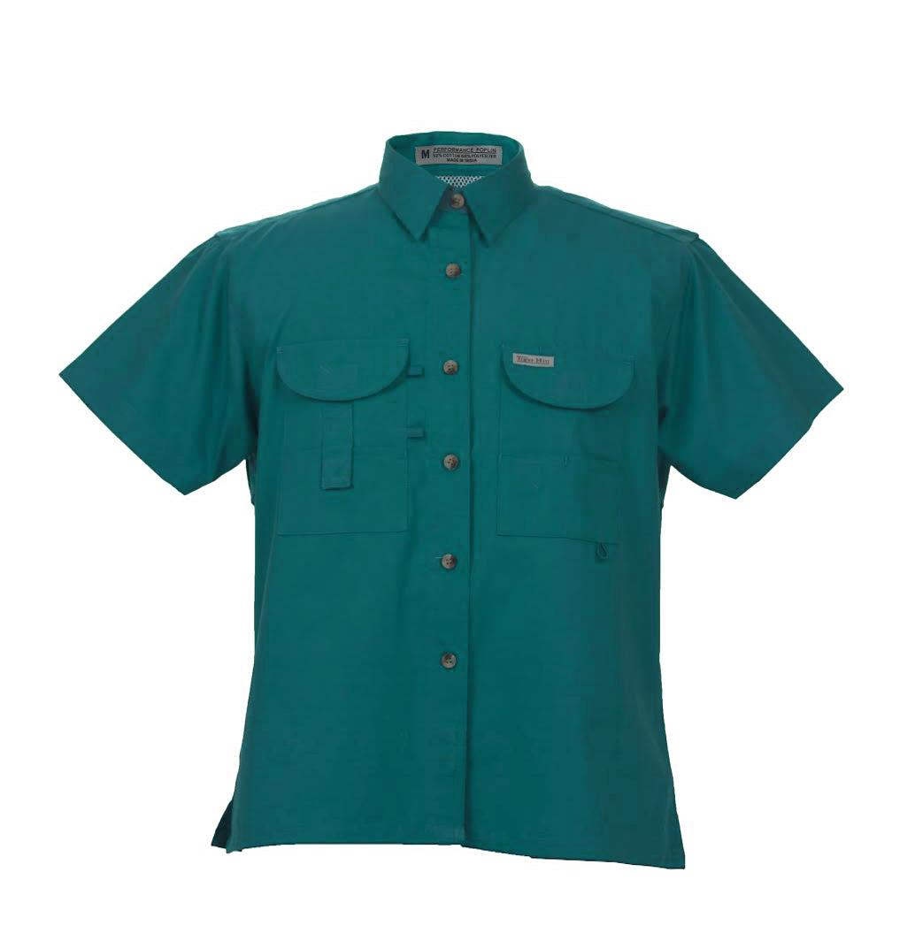 Fishing shirts women 39 s teal fishing shirt fh outfitters for Fishing shirts for women