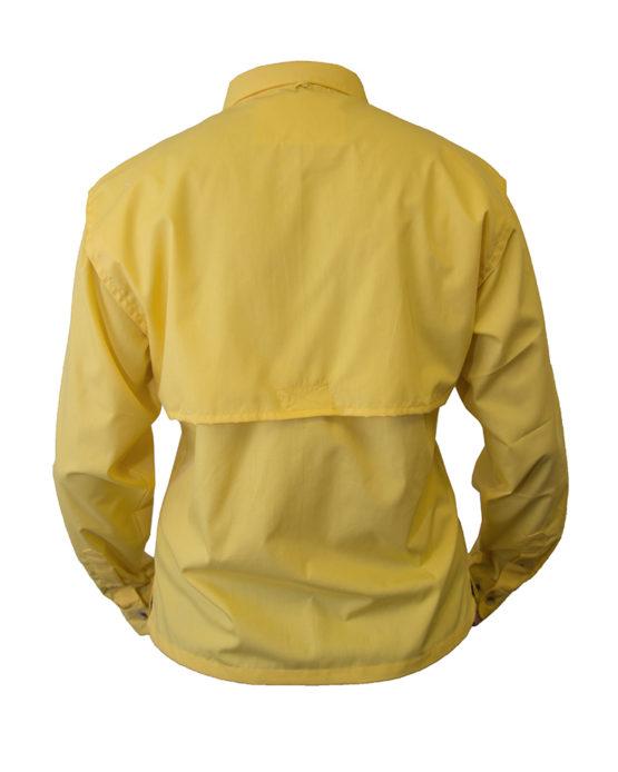 long sleeve fishing shirt, tiger hill, fishing shirt, yellow fishing shirt, vented back fishing shirt, women's fishing shirt.