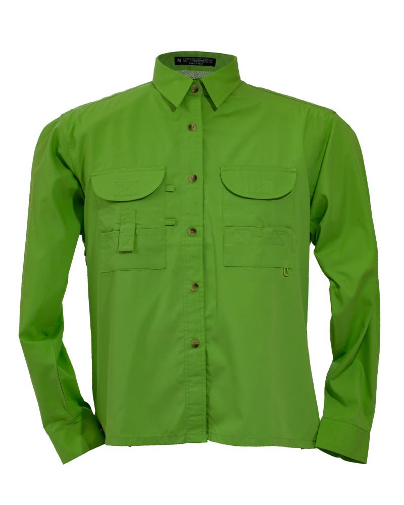 Fishing shirts women 39 s lime green fishing shirt fh for Fishing shirts for women