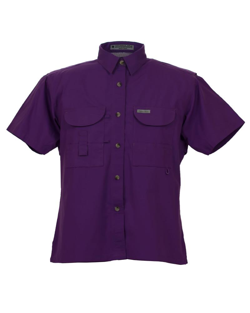 Fishing shirts women 39 s lavender fishing shirt fh for Women s fishing t shirts