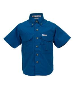 Kid's Fishing Shirts, Royal Blue Fishing Shirt, Tiger Hill Fishing Shirt
