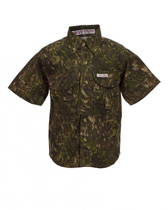 Kid's Fishing Shirts, Camo fishing shirt, tiger hill fishing shirt