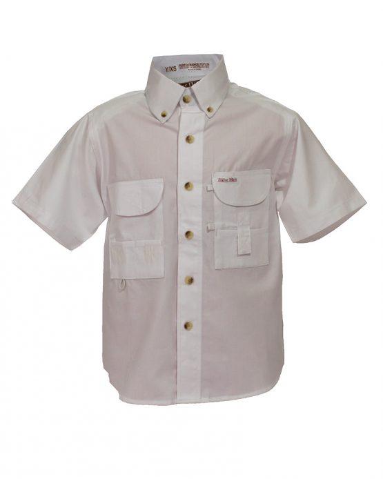 Kid's Fishing Shirts, White Fishing Shirt, Tiger Hill Shirt
