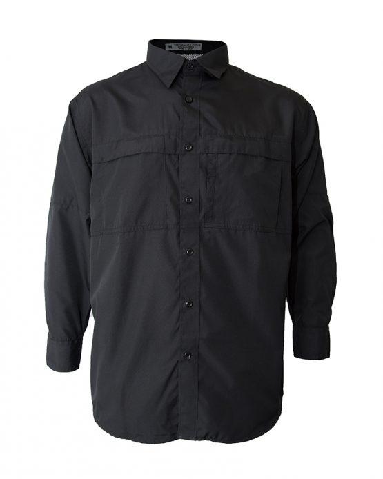 Men's fishing shirt, black fishing shirt, long sleeve fishing shirt, polyester fishing shirt