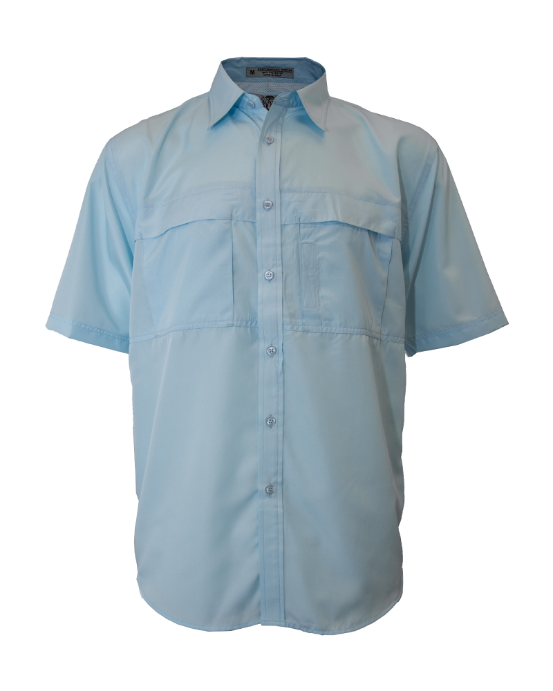 Fishing Shirt In Sky Blue Polyester Mens Fh Outfitters