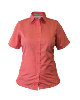 Women's Fishing Shirt, Coral Fishing Shirt, Polyester Fishing Shirt, Tiger Hill Fishing Shirt