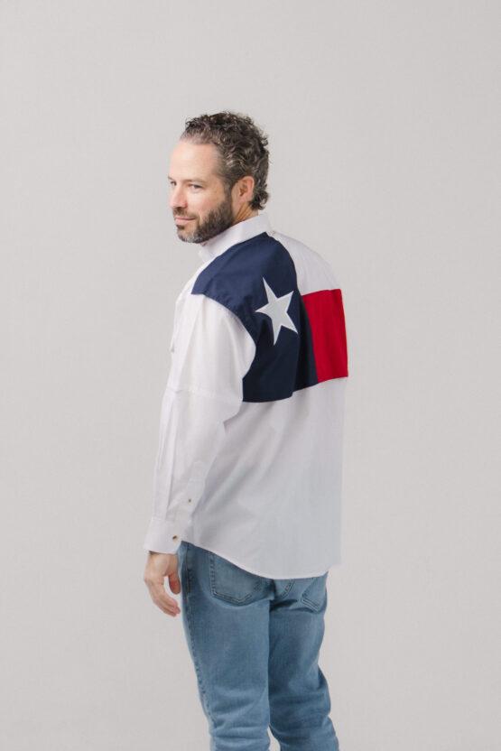 Men's Texas Flag Long Sleeve Fishing Shirt
