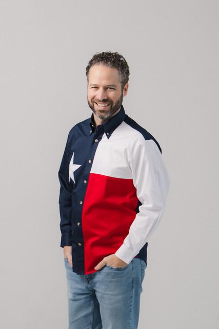 Texas Flag Long Sleeve Twill Shirt