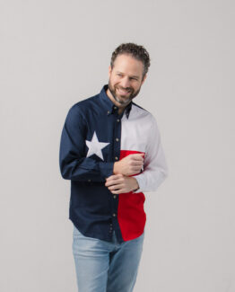 Texas Flag Long Sleeve Twill Shirt