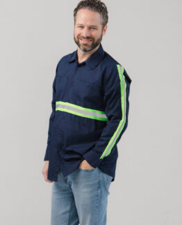 Men's Long Sleeve High Visibility Work