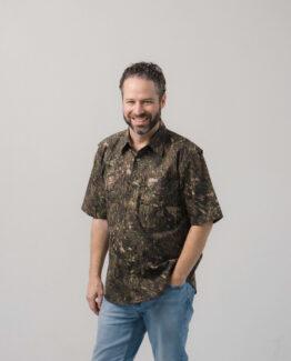 Men's Short Sleeve Camouflage Fishing Shirt