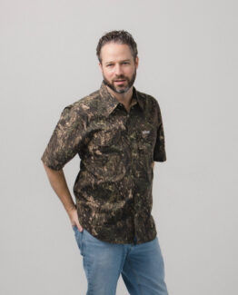Men's Short Sleeve Camouflage Fishing Shirt