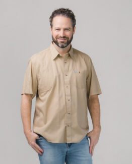 Men's Short Sleeve Khaki Hunting Shirt