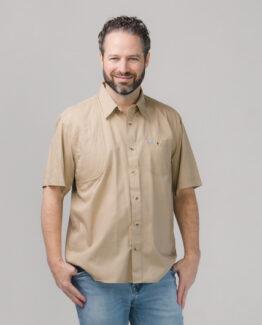 Men's Short Sleeve Khaki Hunting Shirt