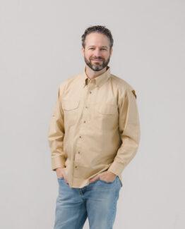 Vented Back Twill Shirt Long Sleeve