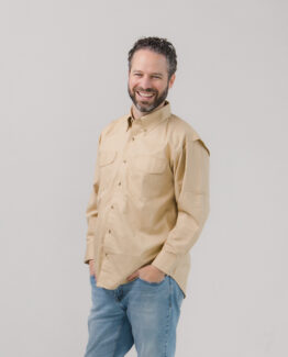Vented Back Twill Shirt Long Sleeve